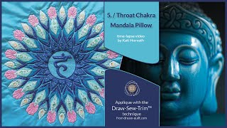 How it was made - DST 5. Throat Chakra Mandala Pillow (DST / Time-lapse)