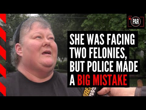 Cops wanted to make her a felon, but missed a key piece of evidence