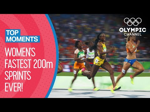 Top 10 Fastest Women's 200m Sprint in Olympic history! | Top Moments