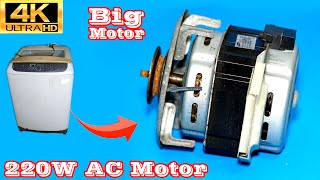 Get free induction motor from an old washing machine