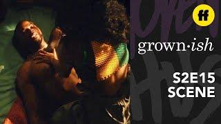 grown-ish Season 2, Episode 15   Aaron Almost Gets Caught Hooking Up   Freeform