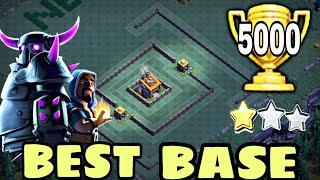 BEST Builder Hall 8 Base w/PROOF !! +5000 CUPS | Bh8 BEST Base Design 2018 | Clash of Clans