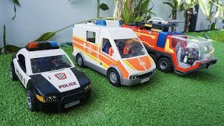 Fire Truck, Police Cars, Ambulance Street Vehicles Toys Unboxing for Kids