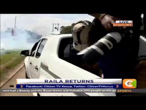 Raila convoy teargassed