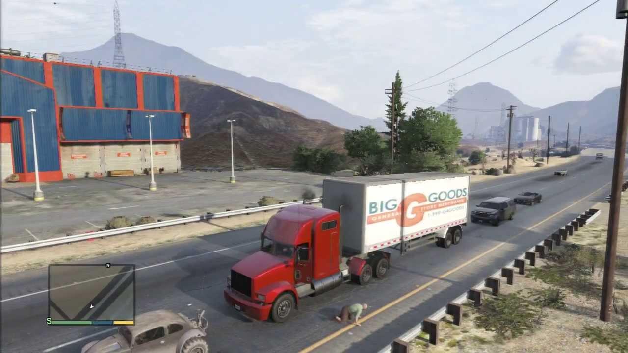 gta 5 trailer truck terror high way youtube. Black Bedroom Furniture Sets. Home Design Ideas