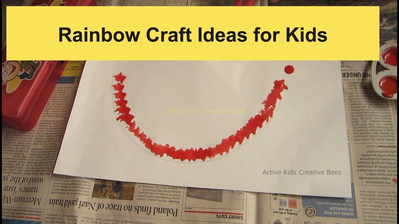 Easy Rainbow Craft Diy Craft Ideas For Kids Summer Camp Ideas