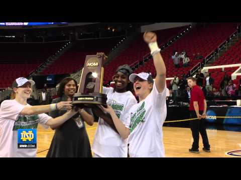 Notre Dame Women's Basketball - Maryland Post-Game Celebration
