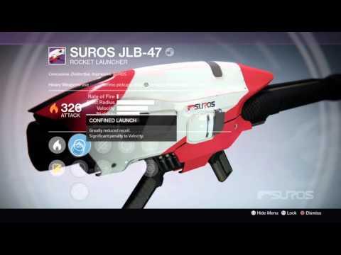 Gunsmith Package Reward - 326 SUROS JLB-47 (April Update - Destiny: The Taken King)