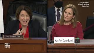 Sen. Amy Klobuchar asks Amy Coney Barrett about Trump's desire to end ACA