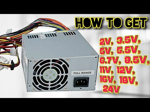 How to get 2 to 24 volts from SMPS