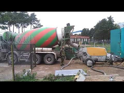 Аренда бетононасоса стационарного передвижного Минск, доставка бетона миксерами 10, 12м3
