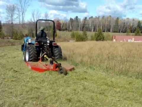 Cutting Grass With A Bush Hog Youtube