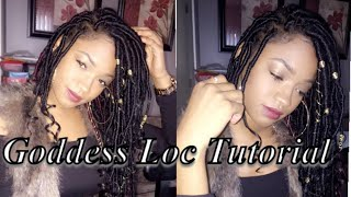 Goddess Loc Tutorial + Box Braids to Goddess Locs * NO CROCHET
