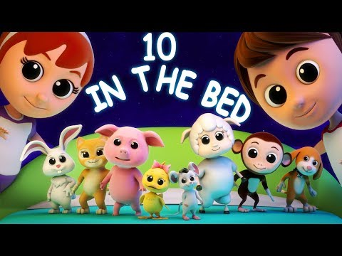 Ten In The Bed | Counting Song For Kids | Nursery Rhymes Songs For Babies | Children Rhyme
