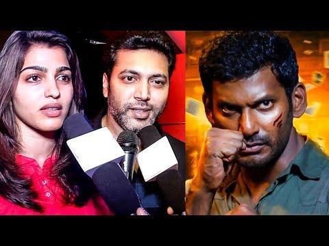 Celebrities  Reaction on Irumbu Thirai!  ...