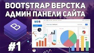 Bootstrap верстка админ панели сайта - структура