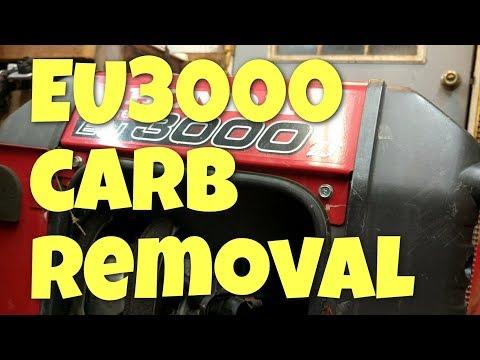 Honda generator EU3000is carburetor removal