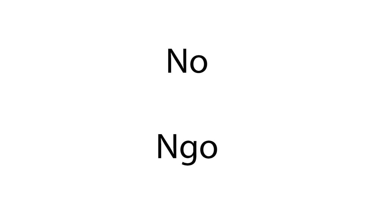 How to pronounce Ngo (Vietnamese last name) - YouTube