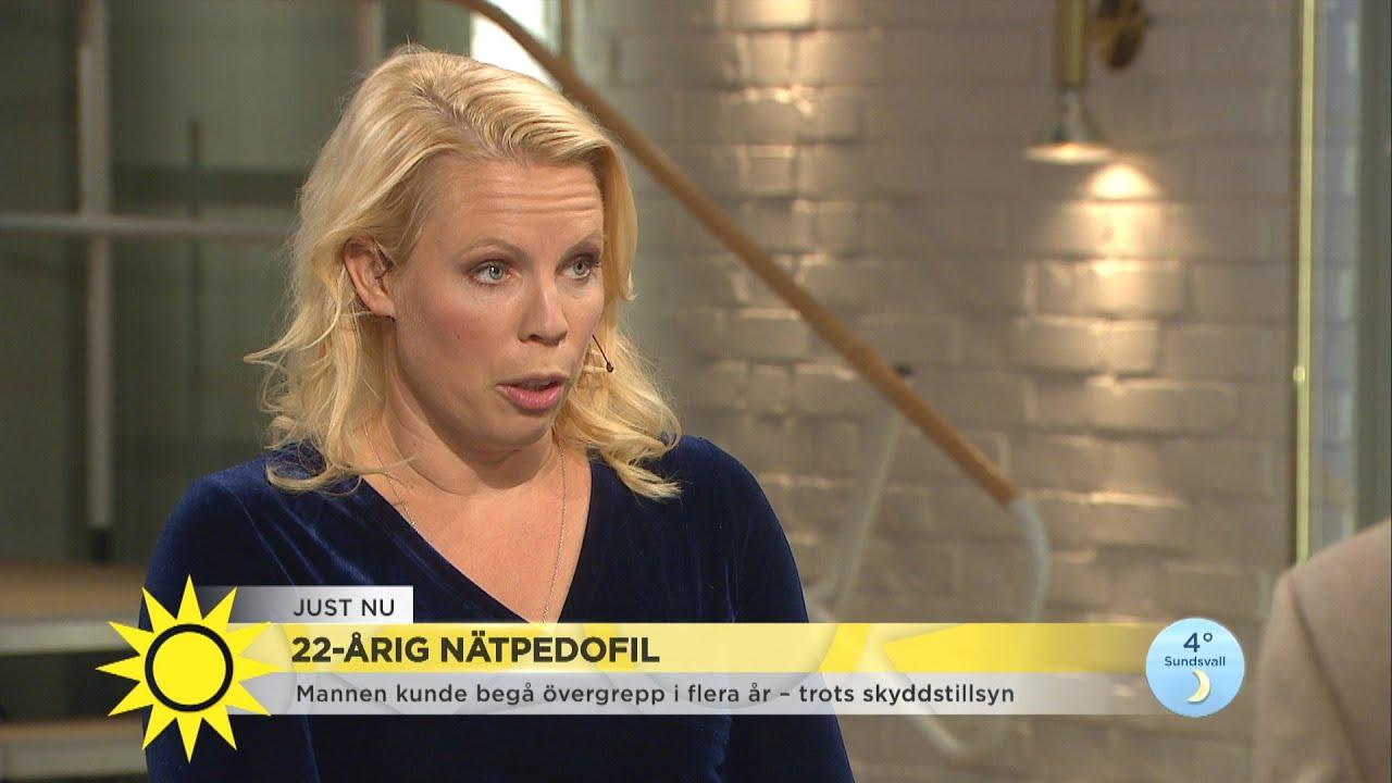 """22-årig nätpedofil inför rätta – """"Vi vuxna måste rusta våra barn inför hoten på - Nyhetsmorgon (TV4)"""