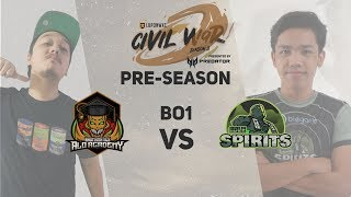 Badmanatics.AA vs Idle Spirits (Bo3) Game 1 | Lupon Civil War Pre-Season Finals