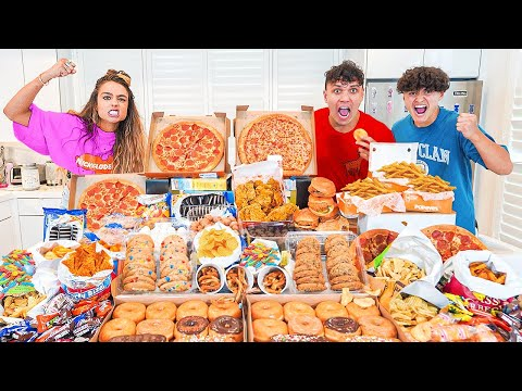 Who Can Gain The Most Weight in 24 Hours Challenge (Sommer Ray Vs FaZe Clan)