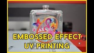 UV Textured & Embossed Printing Effects on Glass