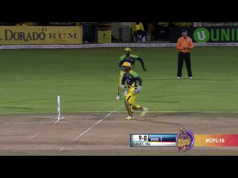 A silly run out from the Knight Riders Chaos at the crease,