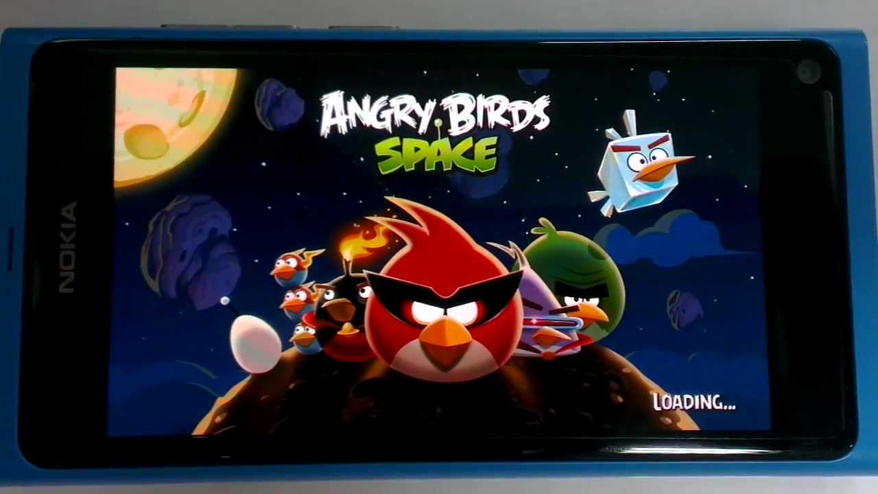 Angry Birds Space (From Android Apps .apk) run on Nokia N9 MeeGo Harmattan  #Smartphone #Android