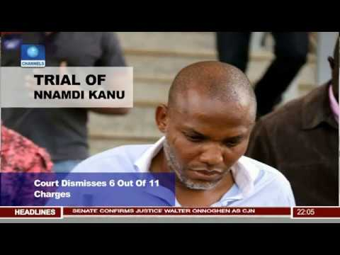 Court Re-arraigns Nnamdi Kanu, Dismisses 6 Out Of 11-Count Charges