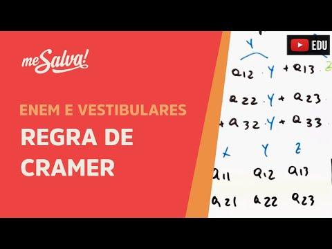 Me Salva! MDS15 - Solução de sistemas lineares de 3 variáveis - Regra de Cramer