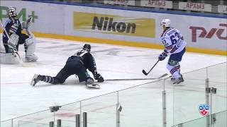 Великолепный пас Панарина на гол Дадонова / Panarin feeds Dadonov with brilliant assist