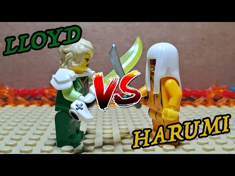 Ninjago Season 12: Lloyd vs Harumi Stop Motion Recreation!