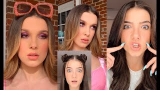 Following Charli D'amelios make up routine / Tiktok