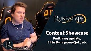 RuneScape Content Showcase (May 19) - Smithing update, Elite Dungeons QoL, RuneFest