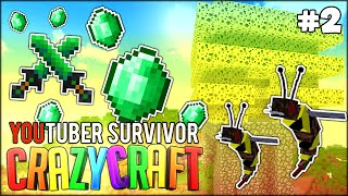 Minecraft: Youtuber Survivor! #2 - F*CK YOU BEES, PRANKS? w/ bodil40 (Minecraft Crazy Craft 3.0 SMP)