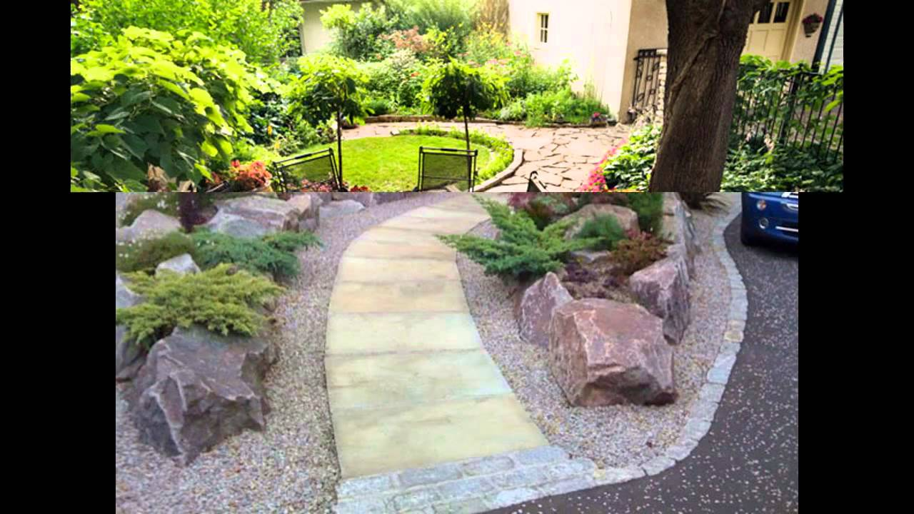 Simple home landscape ideas for small gardens youtube for Small home garden