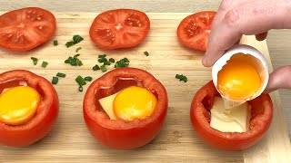 Just put an egg in a tomato and you will be amazed! Breakfast recipe # 35