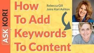How to Apply Your Keywords to Content in your WordPress Website
