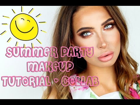SUMMER PARTY MAKEUP TUTORIAL -  Beautybyme, Collab with Josefin Graaf