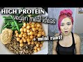 HIGH PROTEIN VEGAN MEAL IDEAS // What I Ate in a Day (Vegan)