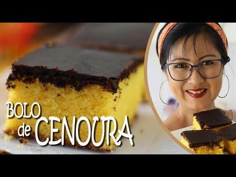 BOLO DE CENOURA FOFINHO COM COBERTURA SEQUINHA DE CHOCOLATE | DIKA DA NAKA