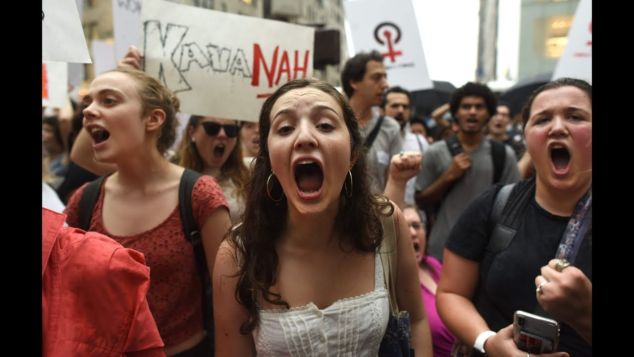 'Women must be heard': Thousands march against Kavanaugh