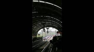 Delhi Metro commuters walk on track .. security breached thumbnail