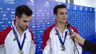 Interview Oliver Hegi & Pablo Brägger nach Team-Bronze