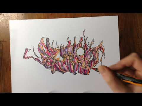 Coloring The Abstract Drawing