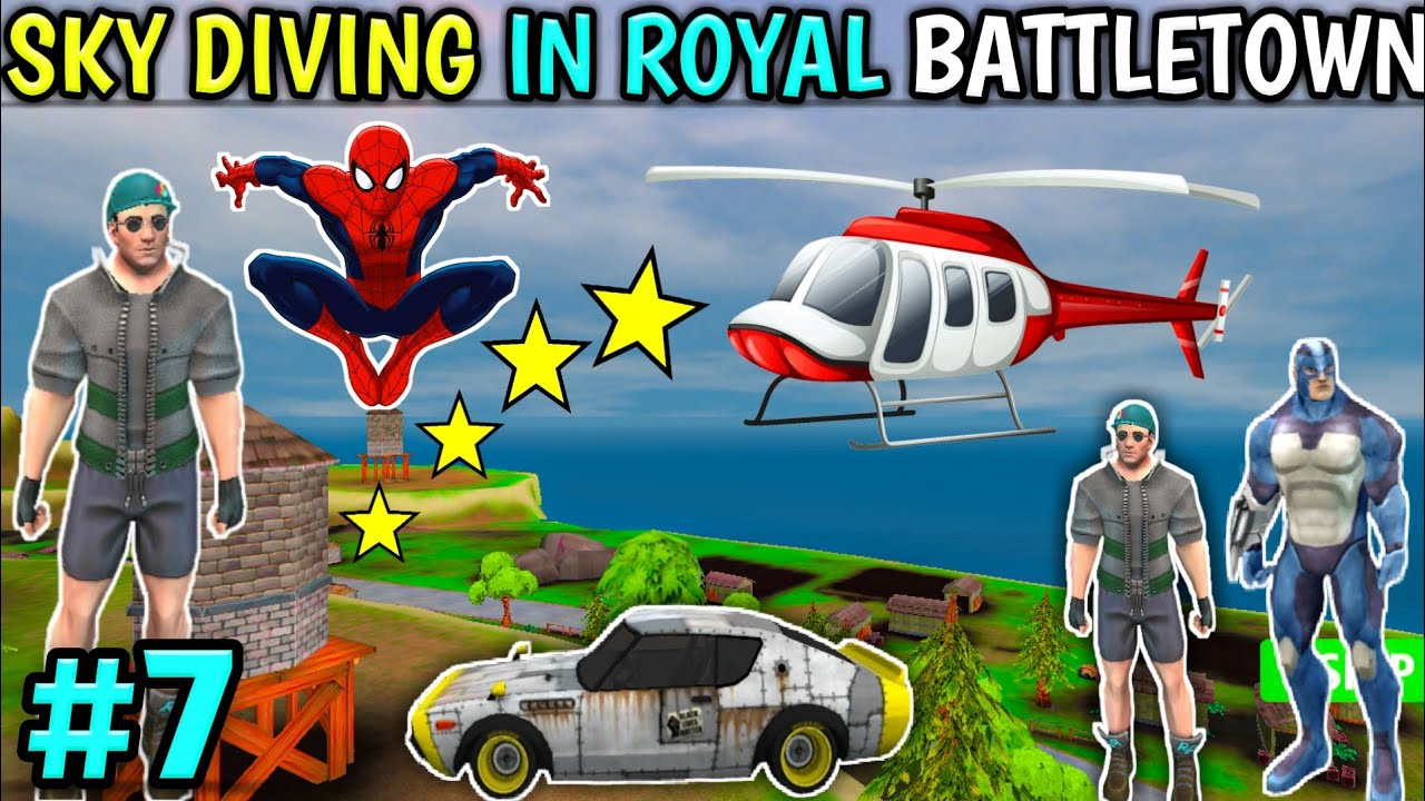 Sky Diving Mission In Royal Battletown | royal battletown game android | rope hero