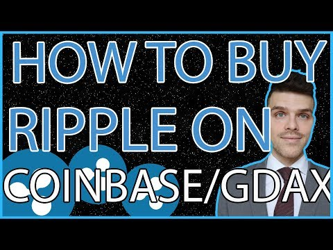 How to BUY Ripple XRP with Coinbase GDAX Tutorial!