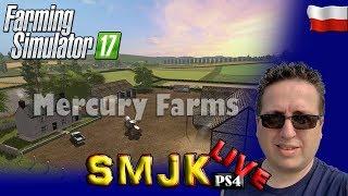 🔴 Test nowej najlepszej mapy Mercury Farms Farming Simulator 17 PS4 Pro PL LIVE #01