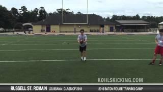 Russell St  Romain 2015 Baton Rouge Training Camp
