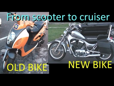 Upgrading from Scooter to 800cc Cruiser! First ride